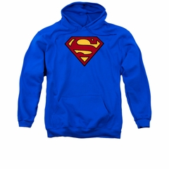 Justice League Embroidered Hoodie Superman Royal Blue Hoody