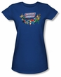 Justice League Juniors T-shirt DC Comics Here They Come Royal Shirt