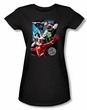 Justice League Juniors T-shirt Galactic Attack Black Tee Shirt