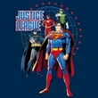 Justice League Juniors T-shirt Superheroes Protectors Navy Blue Shirt