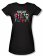 Justice League Juniors T-shirt Superheroes The Big Five Black Shirt