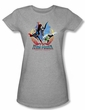 Justice League Juniors T-shirt Team Power Heather Gray Tee Shirt