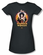 Justice League Juniors T-shirt Wonder Woman Powerful Charcoal Shirt