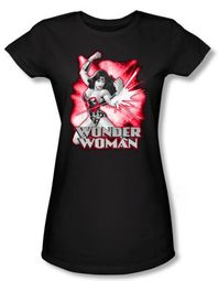 Justice League Juniors T-shirt Wonder Woman Red and Gray Tee Shirt