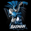 Justice League Kids T-shirt Batman Blue and Gray Youth Black Tee Shirt