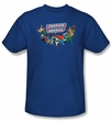 Justice League Kids T-shirt DC Comics Here They Come Youth Blue Shirt