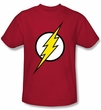 Justice League Kids T-shirt Flash Logo Superheroes Youth Red Tee Shirt