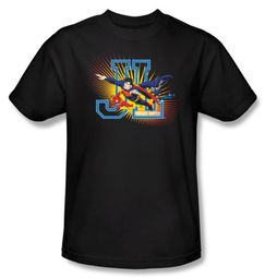 Justice League Kids T-shirt - Heroes United Youth Black Tee Shirt