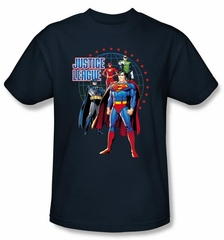 Justice League Kids T-shirt Protectors Youth Navy Blue Tee Shirt