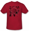 Justice League Kids T-shirt Superheroes Five Stars Youth Red Tee Shirt
