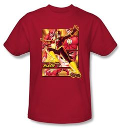 Justice League Kids T-shirt Superheroes Flash Youth Red Tee Shirt