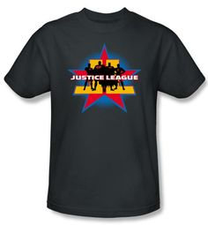 Justice League Kids T-shirt Superheroes Stand Tall Youth Charcoal Tee