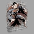Justice League Kids T-shirt Superman Bricks Youth Silver Gray Shirt