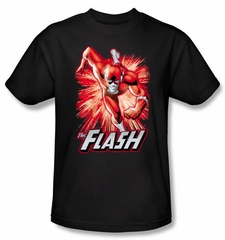 Justice League Kids T-shirt The Flash Red and Gray Youth Black Shirt