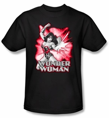 Justice League Kids T-shirt Wonder Woman Red and Gray Youth Tee Shirt