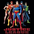 Justice League Ladies Superheroes T-shirt - In League Black Tee
