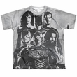 Justice League Movie Black and White Sublimation Kids Shirt Front/Back