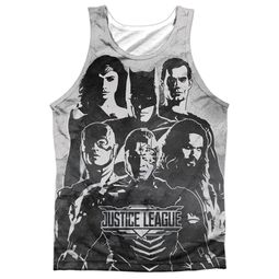 Justice League Movie Black and White Sublimation Tanktop