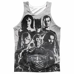 Justice League Movie Black and White Sublimation Tanktop Front/Back