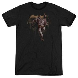Justice League Movie Caped Crusader Black Ringer Shirt