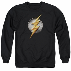 Justice League Movie Flash Logo Adult Black Sweatshirt