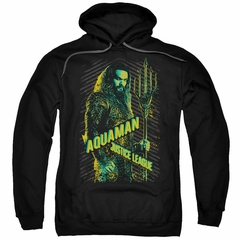 Justice League Movie Hoodie Aquaman Black Sweatshirt Hoody