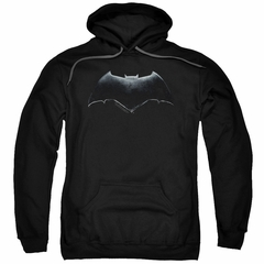 Justice League Movie Hoodie Batman Logo Black Sweatshirt Hoody
