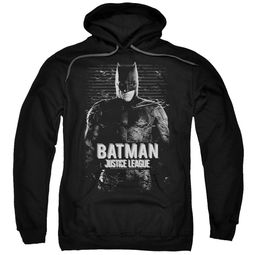 Justice League Movie Hoodie Batman Profile Black Sweatshirt Hoody