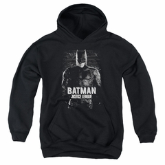 Justice League Movie Kids Hoodie Batman Profile Black Youth Hoody