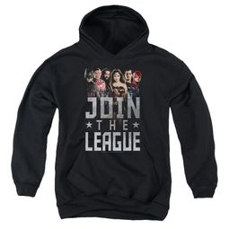 Justice League Movie Kids Hoodie Join The League Black Youth Hoody