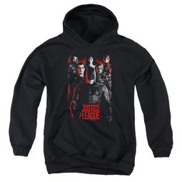 Justice League Movie Kids Hoodie The League Red Glow Black Youth Hoody