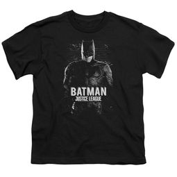 Justice League Movie Kids Shirt Batman Profile Black T-Shirt