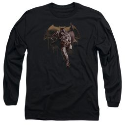 Justice League Movie Long Sleeve Caped Crusader Black Tee T-Shirt