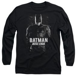 Justice League Movie Long Sleeve Shirt Batman Profile Black T-Shirt