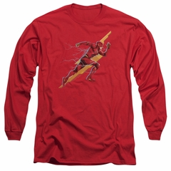 Justice League Movie Long Sleeve Shirt Flash Forward Red Tee T-Shirt