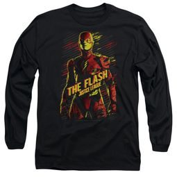 Justice League Movie Long Sleeve Shirt The Flash Black Tee T-Shirt