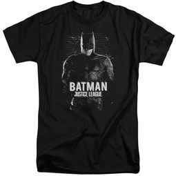 Justice League Movie Shirt Batman Profile Black Tall T-Shirt