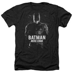 Justice League Movie Shirt Batman Profile Heather Black T-Shirt