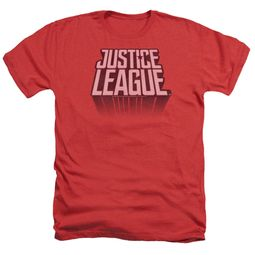 Justice League Movie Shirt Distressed Logo Heather Red T-Shirt