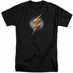 Justice League Movie Shirt Flash Logo Black Tall T-Shirt