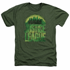Justice League Movie Shirt Kryptonite Heather Military T-Shirt