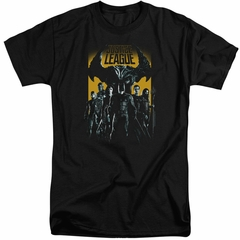 Justice League Movie Shirt Stand Up To Evil Black Tall T-Shirt