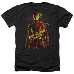 Justice League Movie Shirt The Flash Heather Black T-Shirt