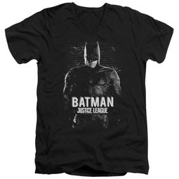 Justice League Movie Slim Fit Shirt Batman Profile Black T-Shirt