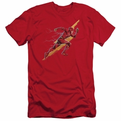Justice League Movie Slim Fit Shirt Flash Forward Red T-Shirt