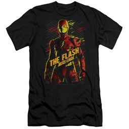 Justice League Movie Slim Fit Shirt The Flash Black T-Shirt