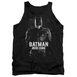 Justice League Movie Tank Top Batman Profile Black Tanktop