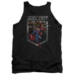 Justice League Movie Tank Top Charge Black Tanktop