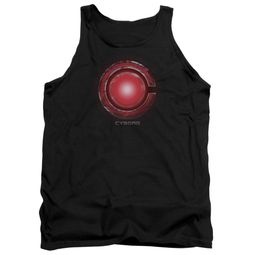 Justice League Movie Tank Top Cyborg Logo Black Tanktop
