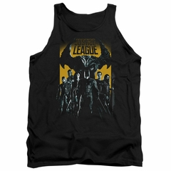 Justice League Movie Tank Top Stand Up To Evil Black Tanktop